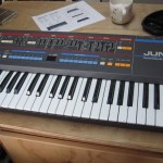 Roland Juno-106 on the bench